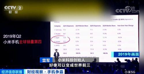 第一手机界研究院院长孙燕飚:今年第二季度,小米成功挺进了高端市场,这也是小米超越苹果成为全球第三的关键原因.