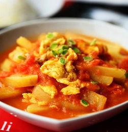 西红柿土豆鸡蛋菜