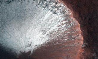 美国宇航局的火星勘测轨道飞行器则从达尼尔森陨石坑拍摄到了一张照片,该陨石坑位于火星西南部42英里处.