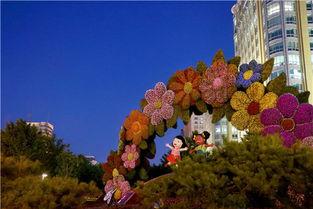 北京花坛迎盛会