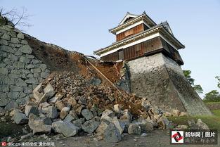 日本熊本县发生6.5级地震 地标建筑受损