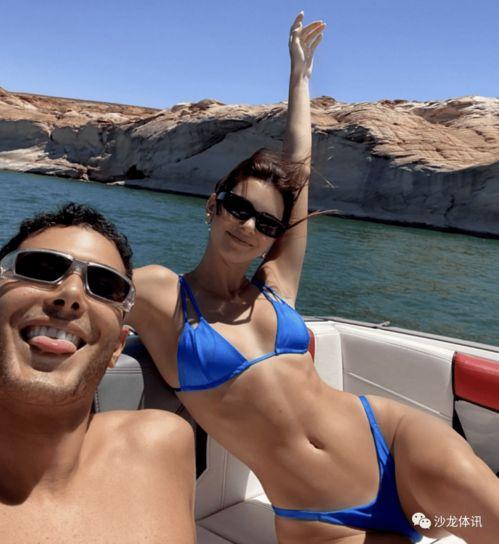 布克詹娜正式公开恋情开豪华游艇鸳鸯戏水,肯豆比基尼布克光膀子