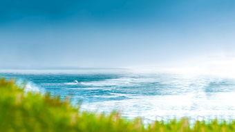 蓝色大海清新唯美自然风光壁纸