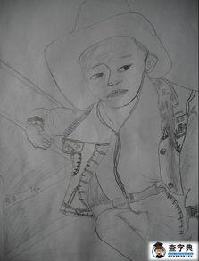 铅笔画萌少女入门教程