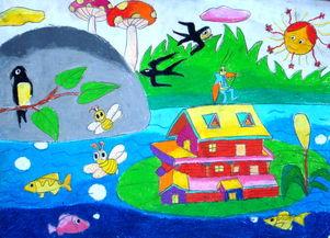 儿童画作品欣赏 春天来了