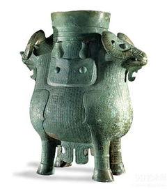 商代双羊尊(青铜器)现藏于大英博物馆