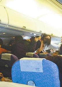 国航ca433航班上乘客大打出手
