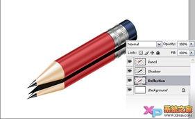Photoshop绘制质感铅笔绘制教程