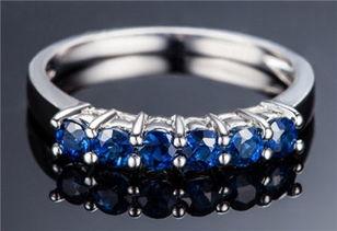 蓝宝石戒指款式 戒指 珠宝首饰 佐卡伊珠宝之家