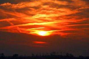 描写日出或日落情景四个词语