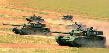 99大改坦克群冲锋.