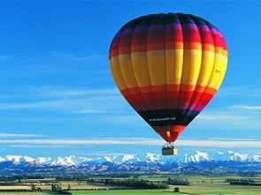 坐热气球俯瞰新西兰
