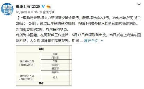 上海29日无新增本地新冠肺炎确诊病例,新增境外输入1例