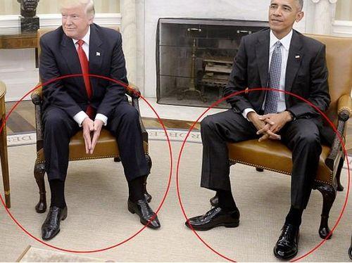 奥巴马与特朗普会面,身体语言专家肢体的秘密