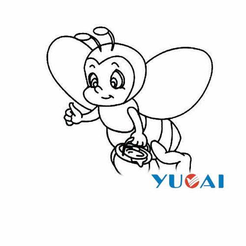 简单的蜜蜂卡通简笔画图片