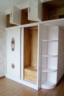 衣柜弧形转角带柜门