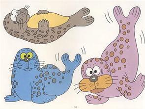 完全动物涂色100 猴子 老鹰 大鲨鱼