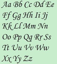 英文字母怎么写好看且大方 是不是中文写得好英文也就相应好了呢