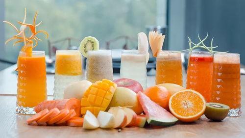 大部分水果在变成果肉果汁,