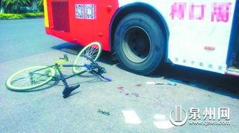 补习完骑 死飞 回家 初一男生与公交相撞