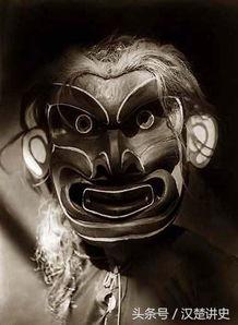 古怪的北美印第安人的仪式面具