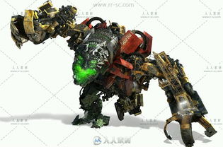 变形金刚电影版机械角色游戏原画素材