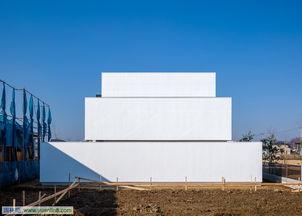 日本白色住宅 围墙之后别有洞天