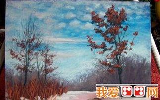 冬季风景水粉画教程解析 5
