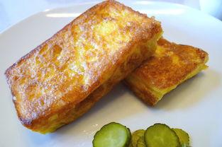 黄油鸡蛋煎面包片的做法大全