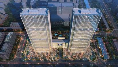 苏州城市生活广场鸟瞰图