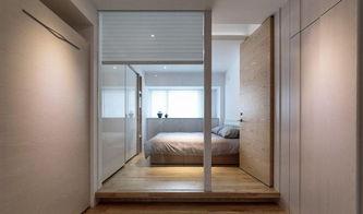 日韩风格二居室卧室背景墙装修效果图