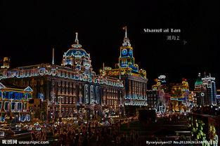上海 外滩夜景图片