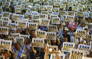 日本民众集会,反对安倍政权