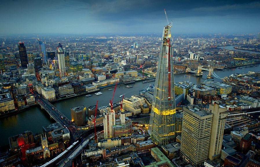 灯火通明的伦敦夜景 几大标志性建筑熠熠生辉