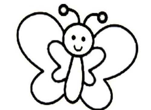 幼儿园简单蝴蝶怎么画蝴蝶简笔画图片