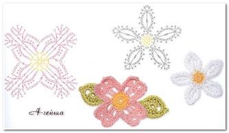 钩针 编织花朵