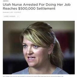 美国一女护士怒怼警察,也被扣上了手铐,结果......