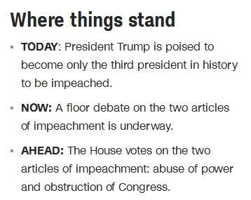 快讯美国众议院投票通过特朗普滥用权力弹劾条款
