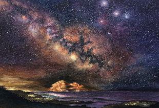 ...影背景图片简约星辰-艺术区夜摄影