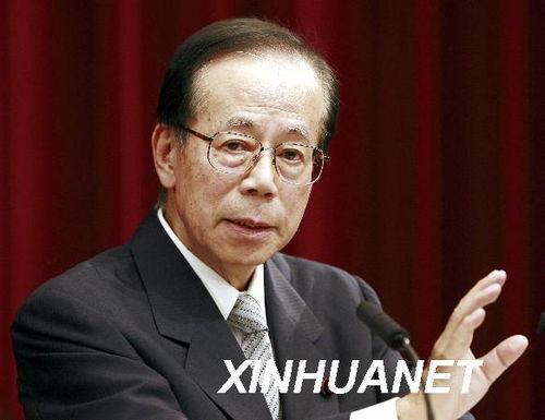 资料图:日本前首相福田康夫