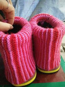 毛线编织菊花针棉鞋有视频教程免费分享