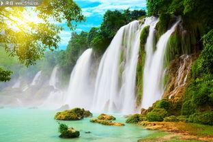 大瀑布图片 风景桌面壁纸