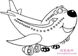 卡通飞机简笔画图片