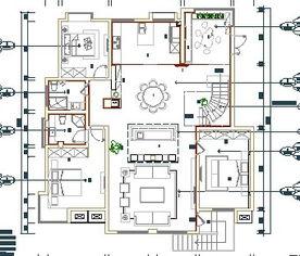 某别墅装修设计图免费下载 装修图纸