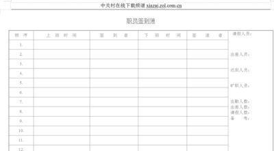 考勤表格式下载(工天考勤表软件)