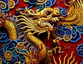中华文化中的图腾龙的形象。(