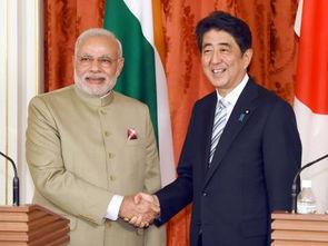印度总理莫迪和日本首相安倍晋三。