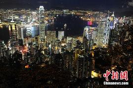 图 香港回归纪念日前夕 维港夜色多姿彩
