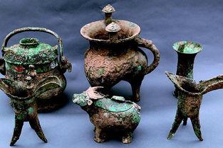 陕西宝鸡市周原遗址出土的青铜器。