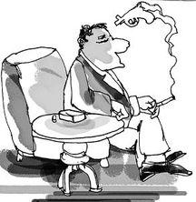 吸烟的来历 图
